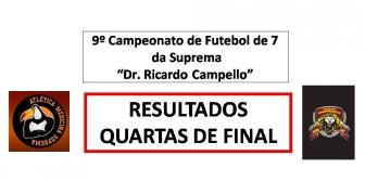 9� Camp. de Futebol de 7 da Suprema - RESULTADOS DAS QUARTAS DE FINAL