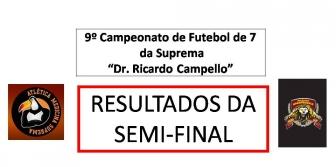 9� Camp. de Futebol de 7 da Suprema - RESULTADOS DA SEMI-FINAL e JOGO FINAL