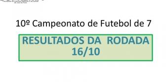 10� Campeonato de Futebol de 7 da Suprema - Resultado da rodada 16/10
