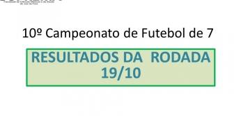 10� Campeonato de Futebol de 7 da Suprema - Resultado da rodada 19/10