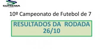 10� Campeonato de Futebol de 7 da Suprema - Resultado da rodada 26/10
