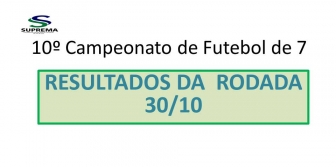 10� Campeonato de Futebol de 7 da Suprema - Resultado da rodada 30/10