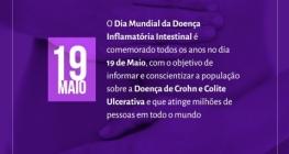 Maio Roxo alerta para doen�a inflamat�ria intestinal (DII)